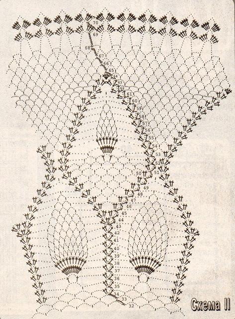 схемы вязания крючком скатерть