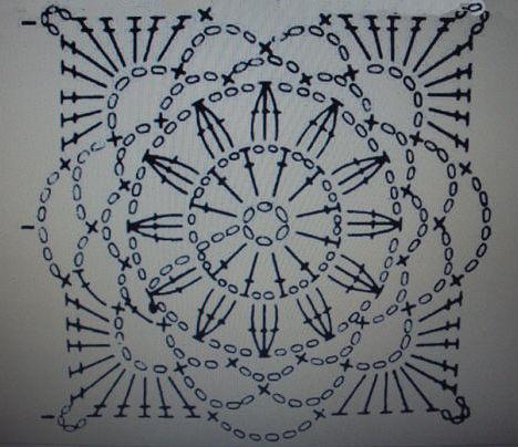 схемы скатерти крючком из мотивов