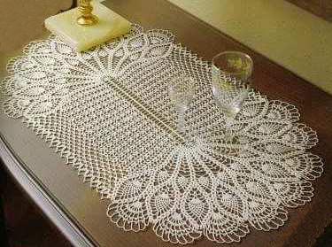 Скатерть овальная крючком со схемами и описанием