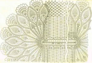 shema vjazanija krasivoj oval'noj salfetki krjuchkom