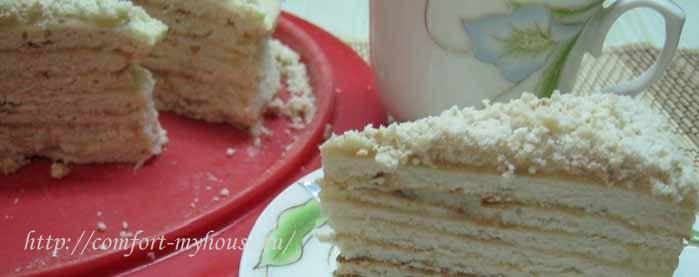 tort napoleon na skovorode