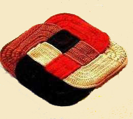 оригинальные вязаные коврики по японской технологии