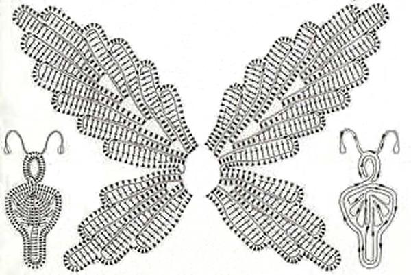 вязаная бабочка схема