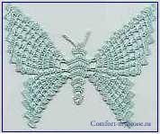 Часть 20 - Вязанные бабочки.  Вязанная бабочка.Украшение для окна.