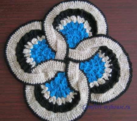 вязание японского коврика