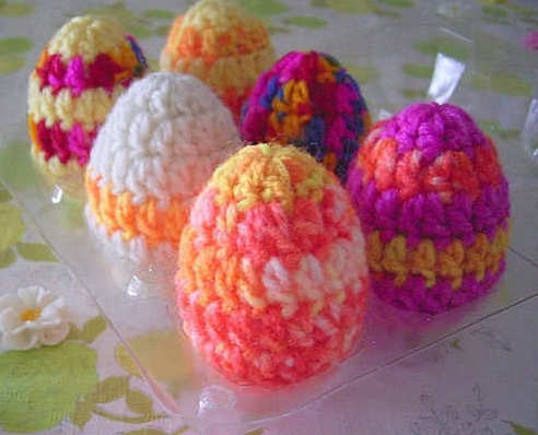 Пасхальные яйца крючком