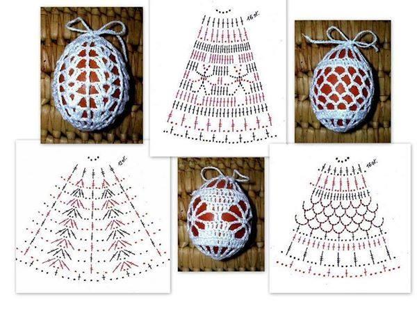 Болванки из яиц можно украсить