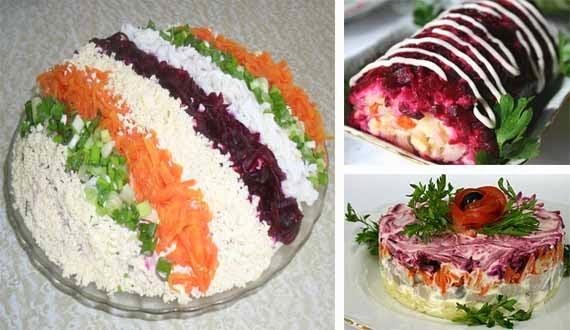 ukrashenie salata seledka pod shuboj