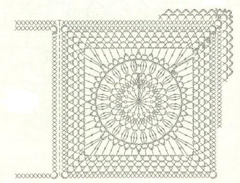 Схемы вязания квадратов для пледа крючком схемы с описанием