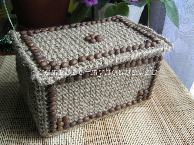 dekor shkatulki zernami kofe