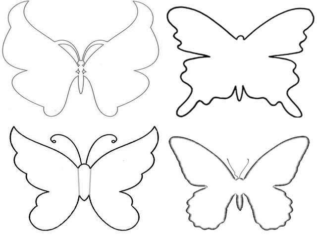 Шаблоны бабочками как сделать 33
