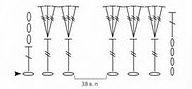 shema vjazanija rozy krjuchkom 1