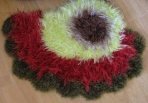 пушистые коврики пейсль