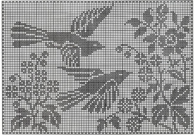 shema pticy dlja podushki