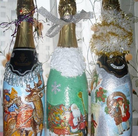 dekupazh butylok shampanskogo