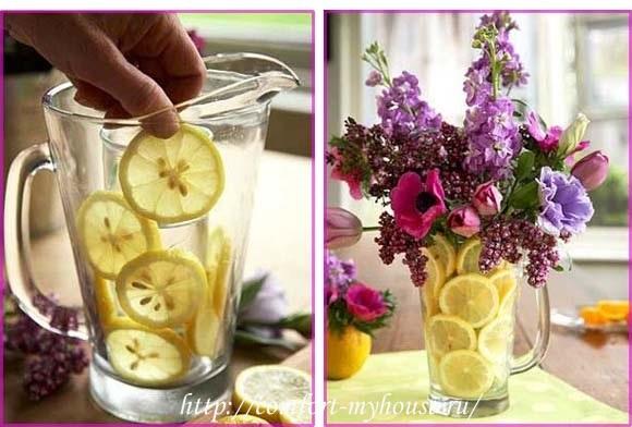 kak sdelat' kompoziciju s limonami