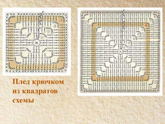 skhema pleda iz kvadratov