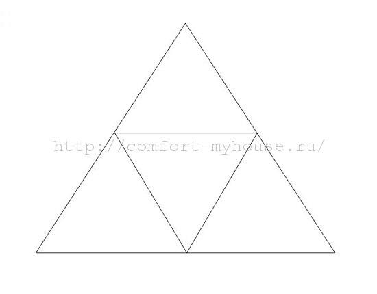 vykrojka original'noj podushki piramidki