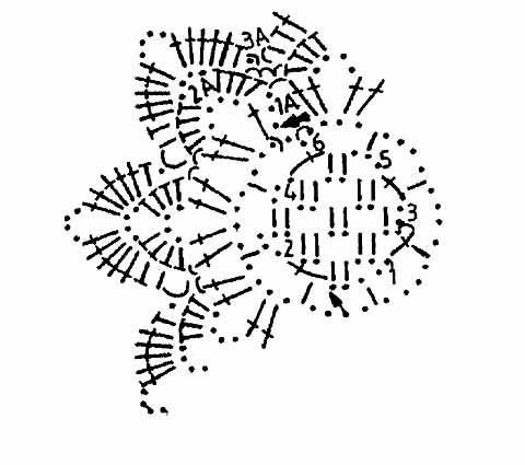 shema cvetka s serdcevinoj iz setki