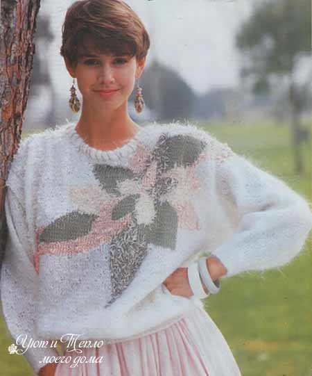 pulover s risunkom na polochke