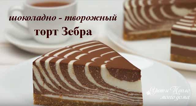 shokoladno tvorozhnyj tort zebra