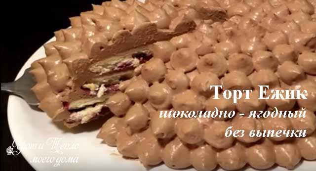 shokoladno yagodnyj tort bez vypechki