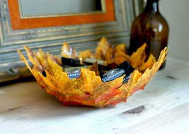 vaza iz listjev