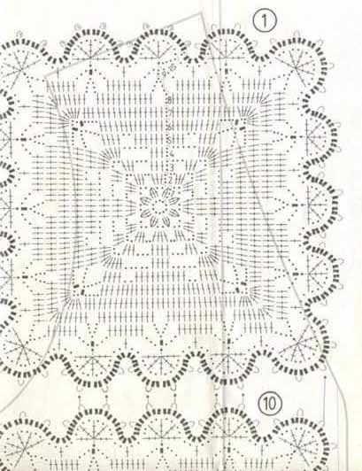 krasivij motiv dlj pokrivala shema