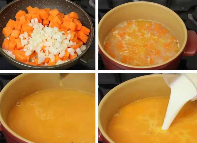 prigotovlenie klassicheskogo supa iz tykvy