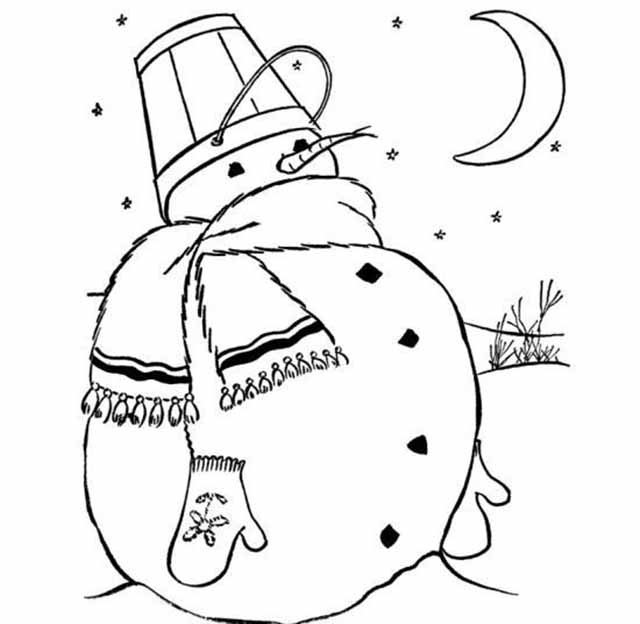 izobrazhenie snegovika dlya okna