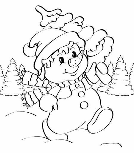 veselyj snegovik v puti