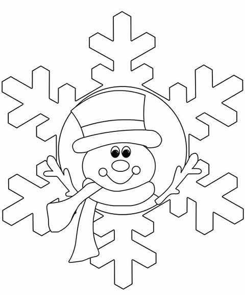 snezhinka s licom snegovika