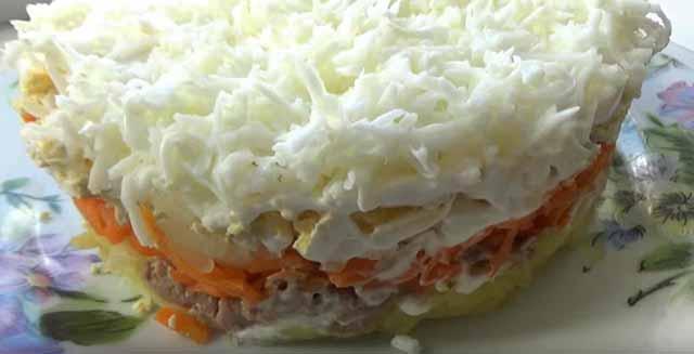 salat s pechen'yu treski