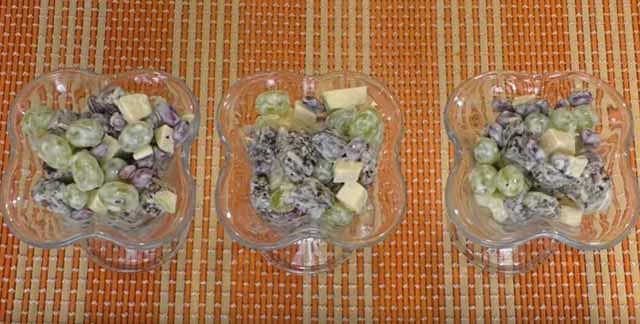 salat s vinogradom
