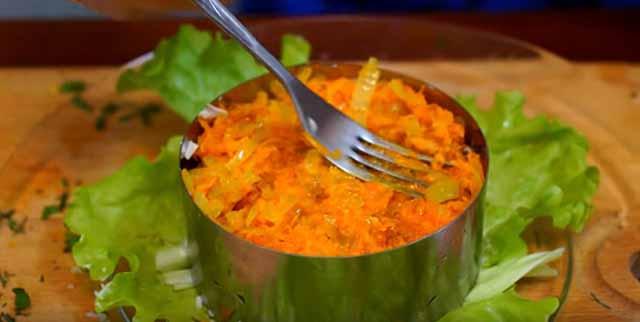 sloj morkovi i luka