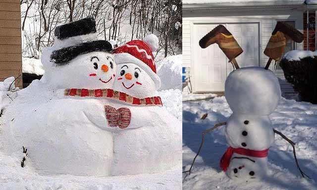 snegoviki iz snega