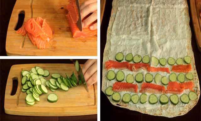 prigotovlenie ruleta s krasnoj ryboj i ogurcom