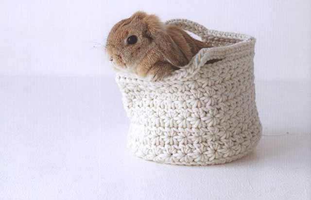 korzinka kruglaj s zajcem