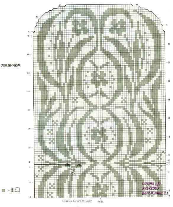 схема дорожки филейным вязанием