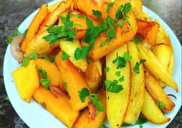 zharenyj kartofel' s tykvoj