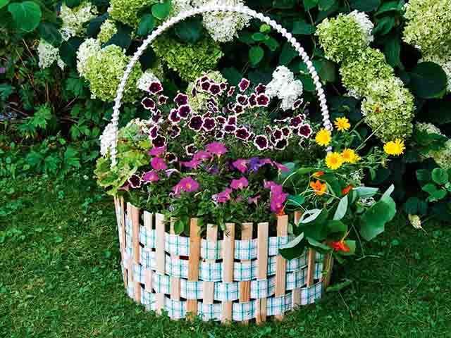 vazon dlya cvetov iz dereva