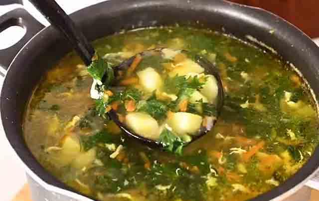 krapivnyj sup s kartofelem