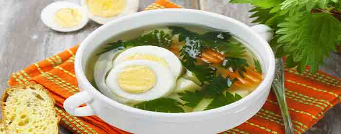 sup iz krapivy s yajcom