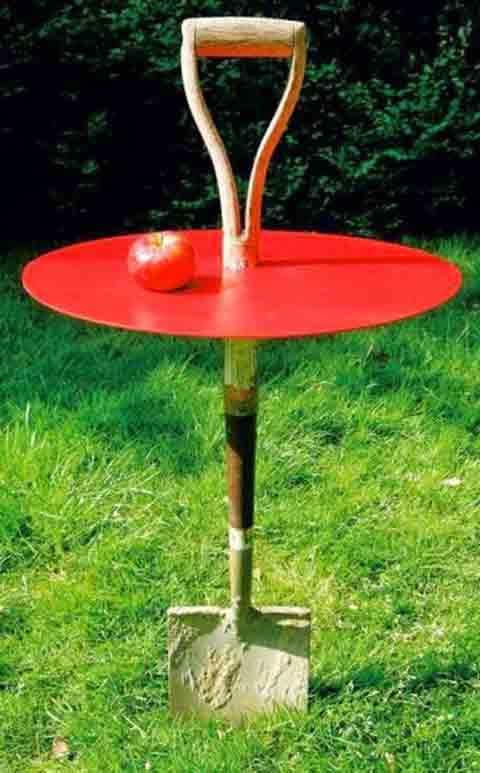 stolik iz lopaty