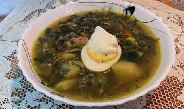 sup iz krapivy i shchavelya