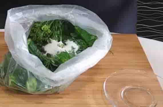 ogurcy v pakete s zelen'yu