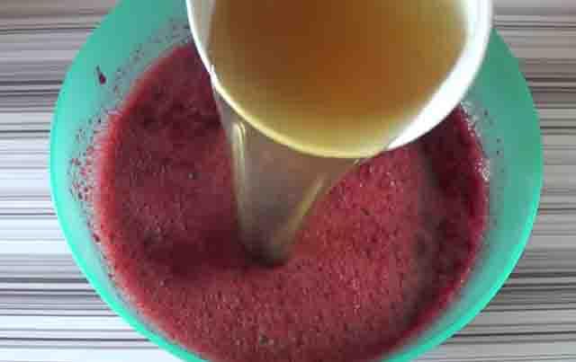rastvor zhelatina v vishnevyj sirop