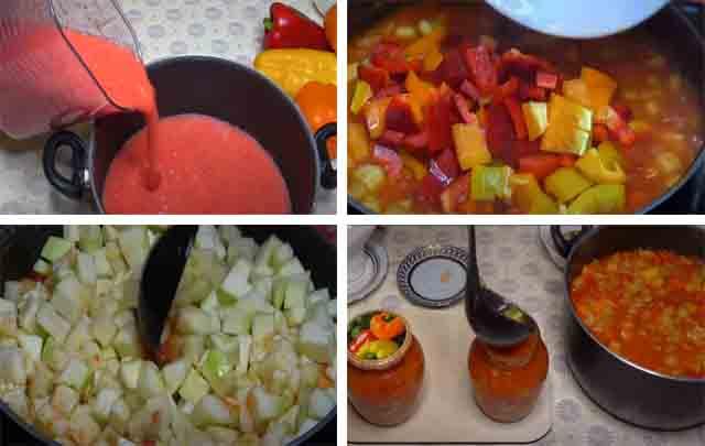 lecho iz kabachkov s tomatnym sokom