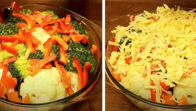 prigotovlenie zapekanki iz cvetnoj kapusty s brokkoli