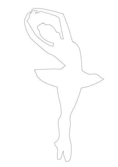 balerinka shablon